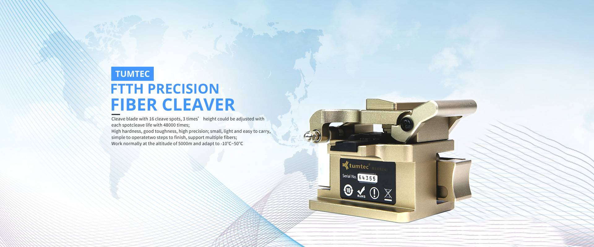 Precision optical fiber cleaver - smart and portable