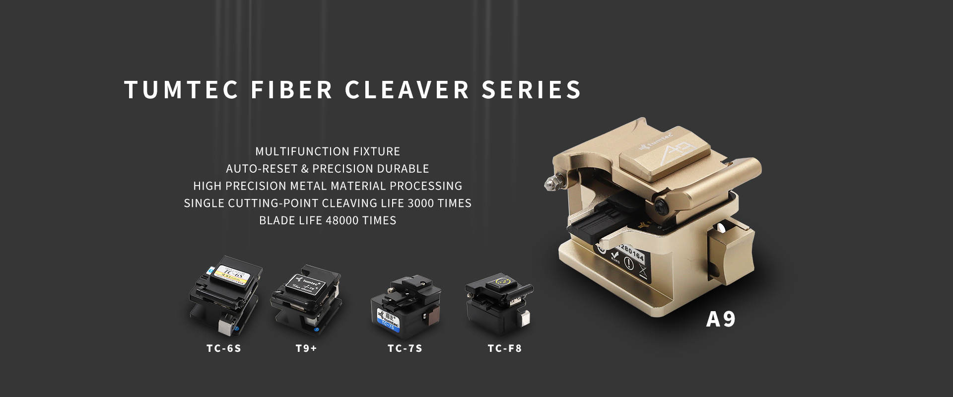 Tumtec optical fiber cleaver